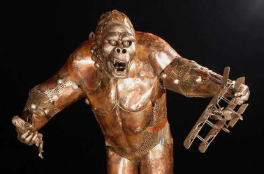 King Kong Metal Sculpture