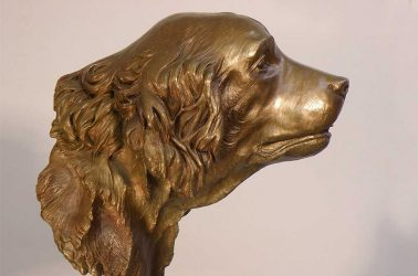 Labrador Dog Bust Sculpture